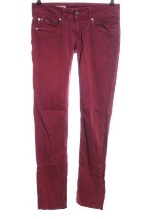 Pepe Jeans London Pantalon cinq poches rouge style décontracté