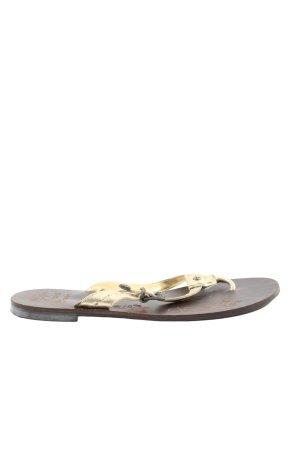 Pepe Jeans London Sandalo infradito oro-marrone stile casual
