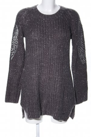 Pepe Jeans London Grobstrickpullover braun-silberfarben meliert Casual-Look