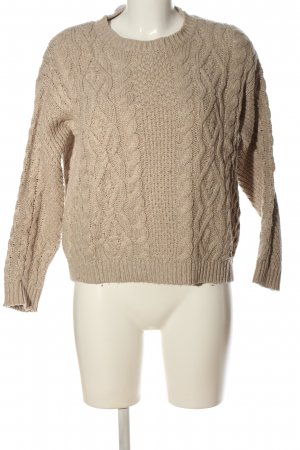 Pepe Jeans London Crochet Sweater natural white cable stitch casual look