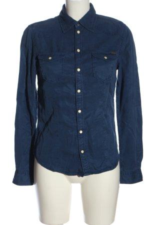 Pepe Jeans London Hemd-Bluse blau Casual-Look