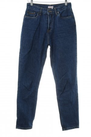 Pepe Jeans London Hoge taille jeans donkerblauw gestippeld casual uitstraling