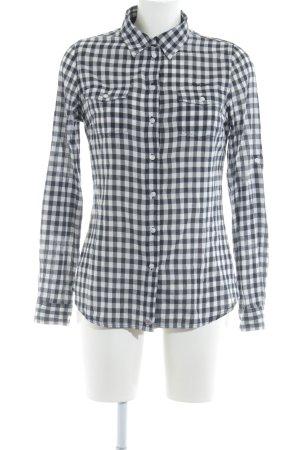 Pepe Jeans London Holzfällerhemd dunkelblau-weiß Karomuster Casual-Look