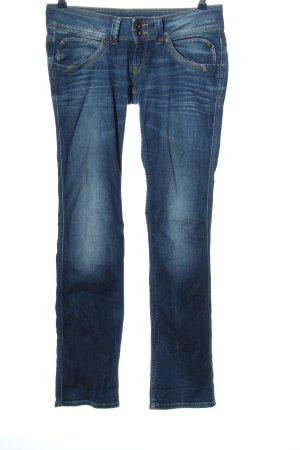 Pepe Jeans London Jeans vita bassa blu stile da moda di strada