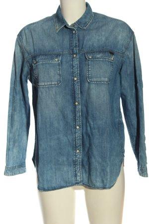 Pepe Jeans London Jeansowa koszula niebieski W stylu casual