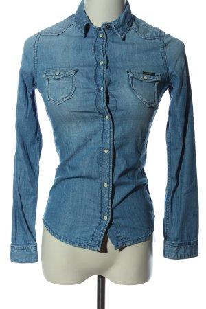 Pepe Jeans London Jeanshemd blau Casual-Look