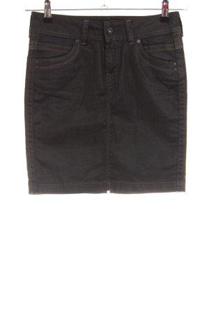 Pepe Jeans London Jeansrock schwarz Casual-Look