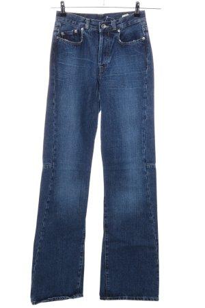 Pepe Jeans London Jeansowe spodnie dzwony niebieski W stylu casual