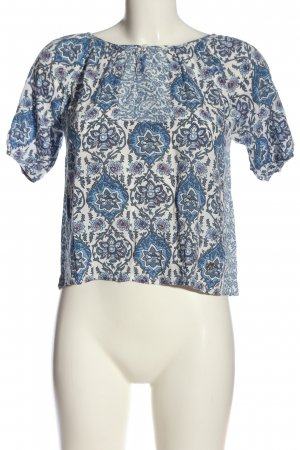 Pepe Jeans London Kurzarm-Bluse Allover-Druck Casual-Look