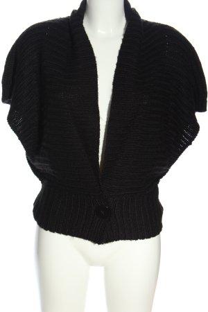 Pepe Jeans London Sweter z krótkim rękawem czarny Warkoczowy wzór