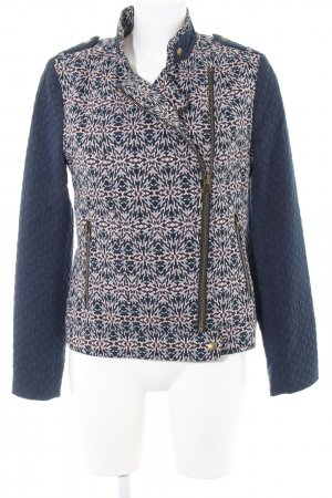 Pepe Jeans London Kurzjacke blau-pink grafisches Muster Casual-Look