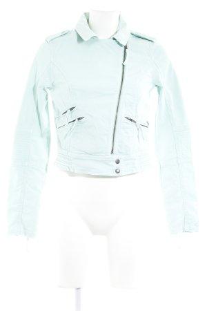 Pepe Jeans London Kurzjacke mint Logo-Applikation aus Leder