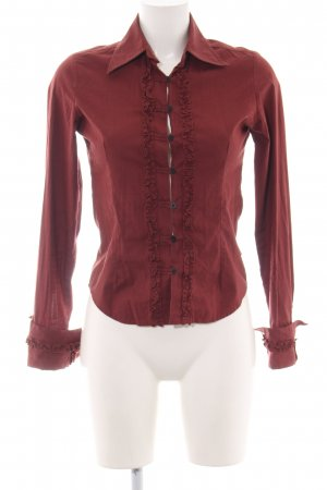 Pepe Jeans London Langarmhemd rostrot Business-Look