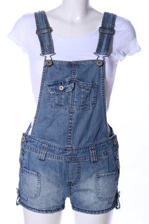 Pepe Jeans London Latzshorts blau Casual-Look
