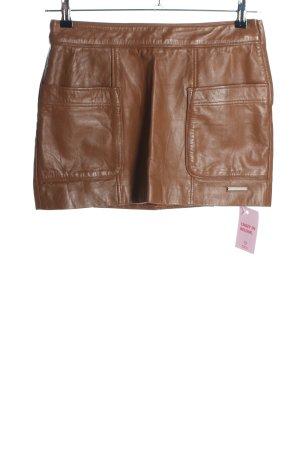Pepe Jeans London Lederrock braun Casual-Look