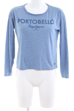 Pepe Jeans London Longsleeve blau meliert Casual-Look
