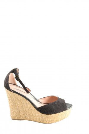 Pepe Jeans London Plateauzool sandalen zwart casual uitstraling