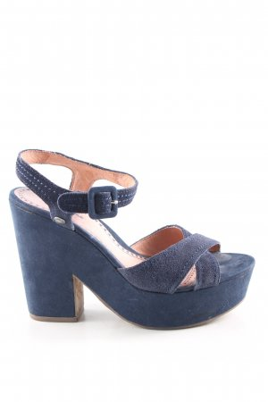 Pepe Jeans London Platform High-Heeled Sandal blue casual look