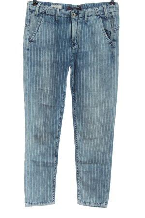 Pepe Jeans London Röhrenhose blau-wollweiß Streifenmuster Casual-Look