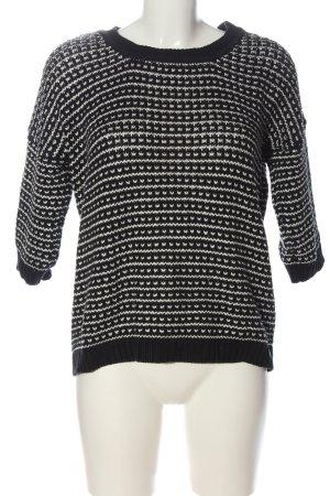 Pepe Jeans London Rundhalspullover schwarz-weiß abstraktes Muster Casual-Look