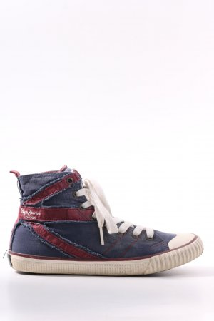 Pepe Jeans London Schnürsneaker blau-rot Casual-Look