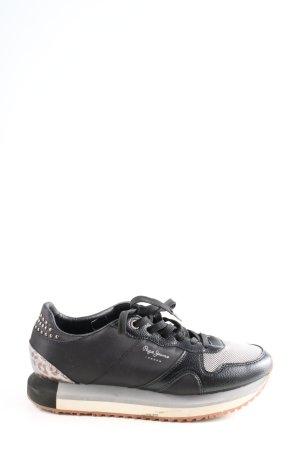 Pepe Jeans London Schnürsneaker schwarz sportlicher Stil
