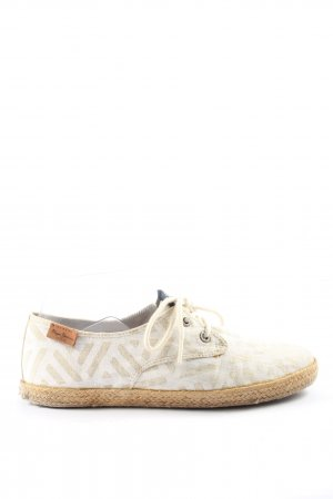 Pepe Jeans London Schnürsneaker wollweiß grafisches Muster Casual-Look
