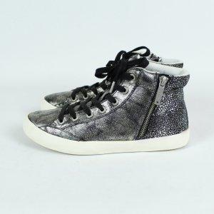 PEPE Jeans London Sneaker Gr. 38 silber schwarz (19/09/060*)
