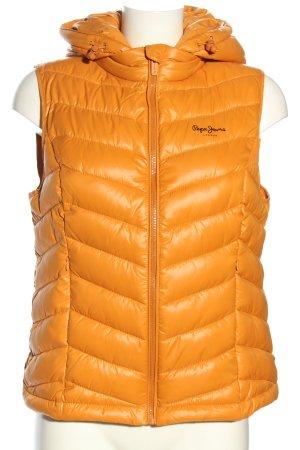 Pepe Jeans London Smanicato trapuntato arancione chiaro caratteri stampati
