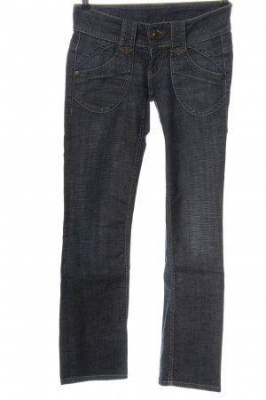 Pepe Jeans London Jeansy z prostymi nogawkami niebieski W stylu casual