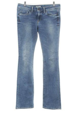 Pepe Jeans London Jeansy ze stretchu chabrowy Tkanina z mieszanych włókien