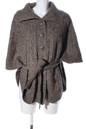 Pepe Jeans London Strickponcho bronzefarben-braun meliert Casual-Look