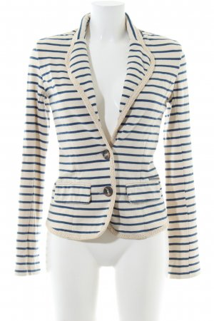 Pepe Jeans London Sweatblazer wollweiß-blau Streifenmuster Casual-Look