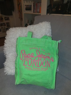 pepe jeans london tasche neongrün stofftasche