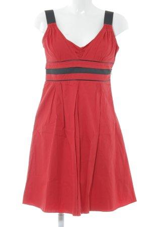 Pepe Jeans London Trägerkleid rot-schwarz schlichter Stil