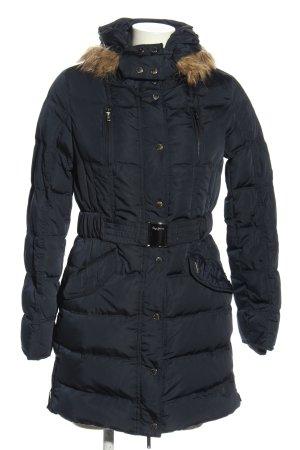 Pepe Jeans London Wintermantel schwarz Steppmuster Casual-Look
