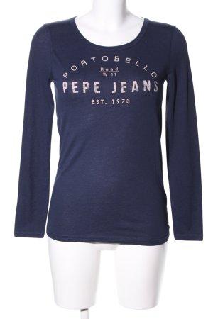 Pepe Jeans Longsleeve blau-creme meliert Casual-Look