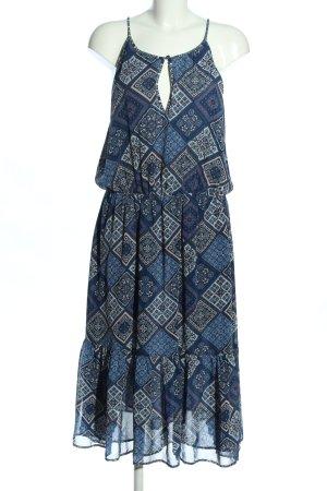 Pepe Jeans Maxikleid blau-hellgrau Blumenmuster Casual-Look