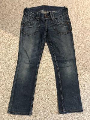 Pepe Jeans Jeansy z prostymi nogawkami ciemnoniebieski-niebieski Bawełna