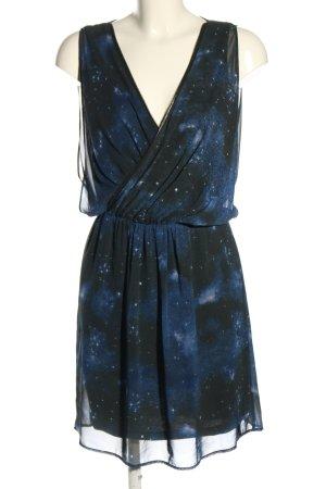 Pepe Jeans Minikleid schwarz-blau grafisches Muster Casual-Look