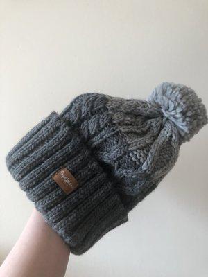 Pepe Jeans Bonnet à pompon gris clair-gris