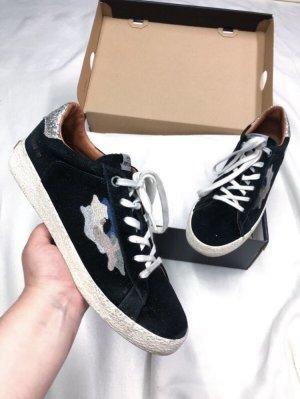 Pepe Jeans Portobello Sneaker Marineblau Glitzer Silber 40
