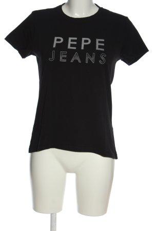 Pepe Jeans Camiseta estampada negro letras impresas look casual