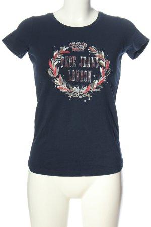 Pepe Jeans Print-Shirt blau Motivdruck Casual-Look