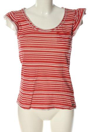 Pepe Jeans Camisa de rayas rojo-blanco look casual