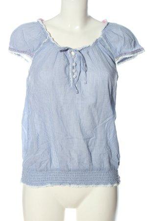 Pepe Jeans Camisa de rayas azul-blanco estampado a rayas look casual