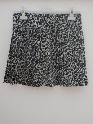 Pepe Jeans Rock, Gr. S, Schwarz/Beige gemustert