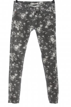 Pepe Jeans Drainpipe Trousers light grey-white allover print casual look