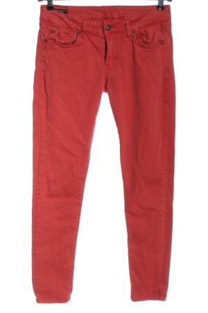 Pepe Jeans Jeans cigarette rouge style décontracté