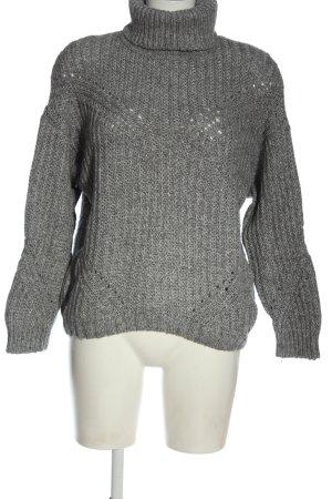 Pepe Jeans Maglione dolcevita grigio chiaro punto treccia stile casual